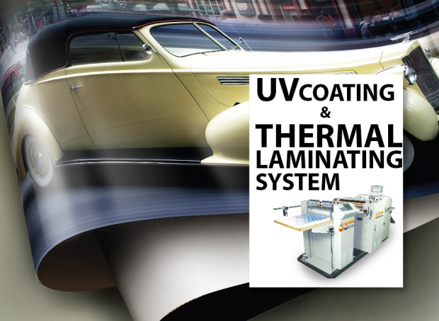 HOMEPAGE SLIDE - UV COATING / THERMAL LAMINATING SYSTEM
